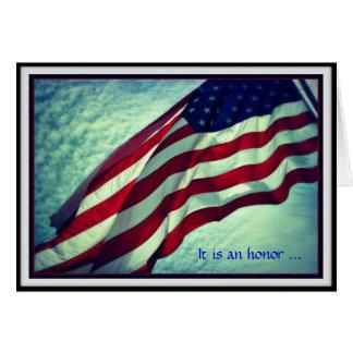 Carte de jour de vétérans de Merci