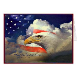 Carte de jour de vétérans de Merci d'Eagle
