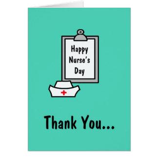 Carte de jour d'infirmières -- Merci