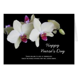 Carte de jour d'infirmières -- Orchidées