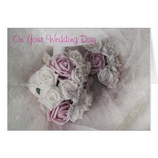 Carte de jour du mariage