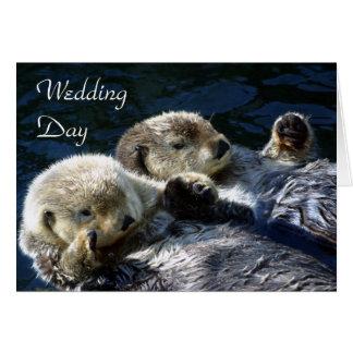 carte de jour du mariage de Mer-loutres