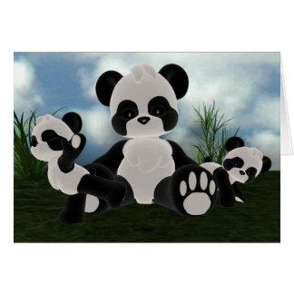 Carte de jour ensoleillé de Bearz de panda