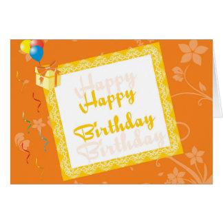 Carte de joyeux anniversaire avec l'arrière - plan