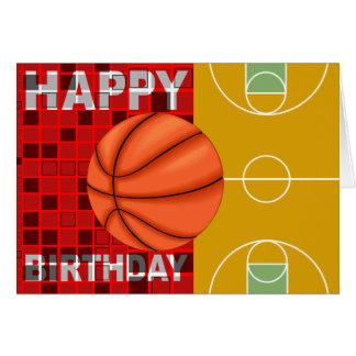 Carte de joyeux anniversaire de basket-ball