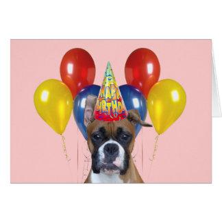 Carte de joyeux anniversaire de boxeur
