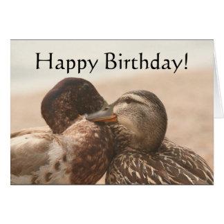 Carte de joyeux anniversaire de canards