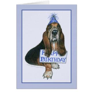 Carte de joyeux anniversaire de chien de chasse