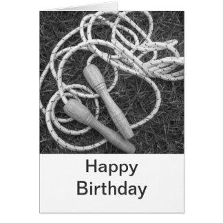 Carte de joyeux anniversaire de cordes à sauter