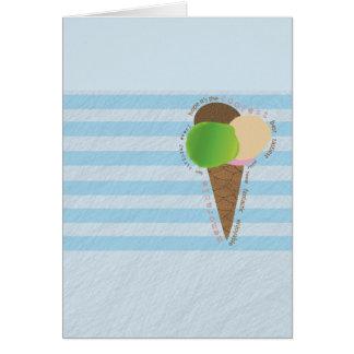 Carte de joyeux anniversaire de crème glacée