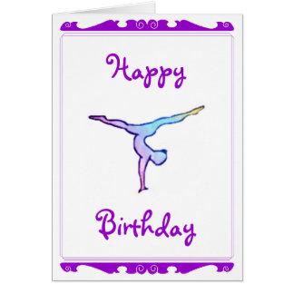"""Carte de """"joyeux anniversaire"""" de gymnaste"""