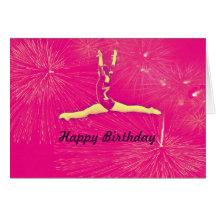 Carte de joyeux anniversaire de gymnaste