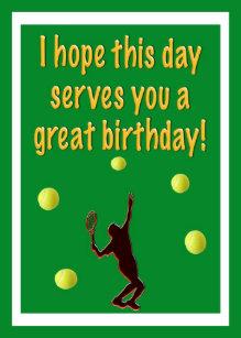 Carte Anniversaire Tennis.Cartes Tennis D Anniversaire Zazzle Fr