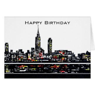 Carte de joyeux anniversaire de New York