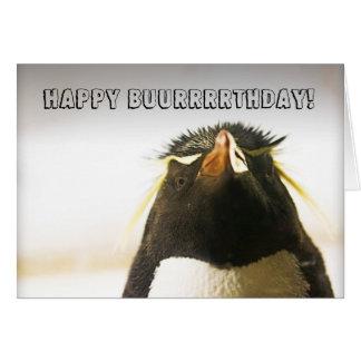 Carte de joyeux anniversaire de pingouin