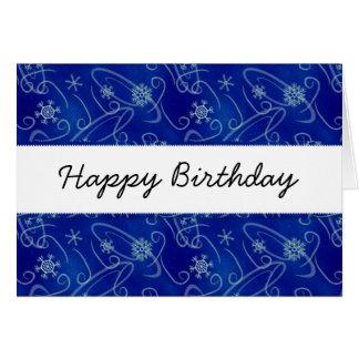 Carte de joyeux anniversaire de remous et de