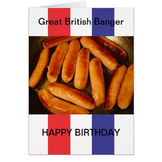 Carte de joyeux anniversaire de saucisses