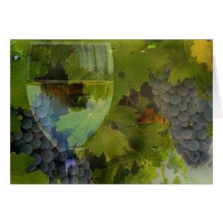 Carte de joyeux anniversaire de vin