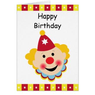 Carte de joyeux anniversaire de visage de clown