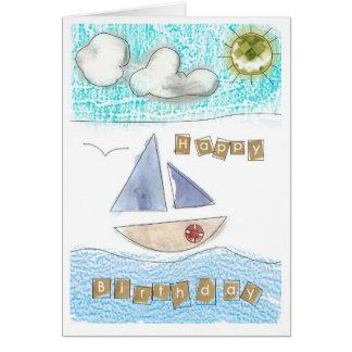 Carte de joyeux anniversaire du bord de la mer du