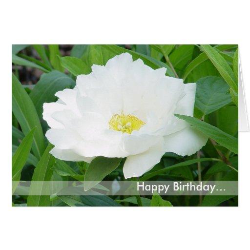 Carte de joyeux anniversaire/fleur