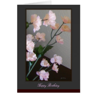 Carte de joyeux anniversaire - fleurs de cerisier