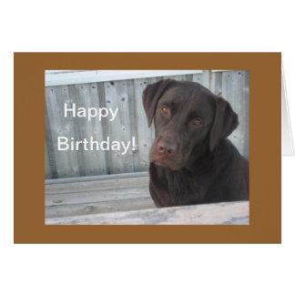 Carte de joyeux anniversaire - laboratoire de