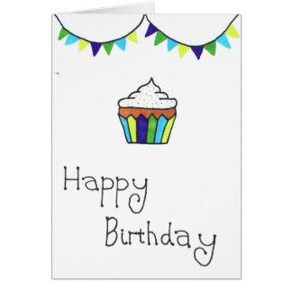 Carte de joyeux anniversaire - petit gâteau et