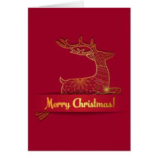 Carte de Joyeux Noël avec sauter de cerfs communs