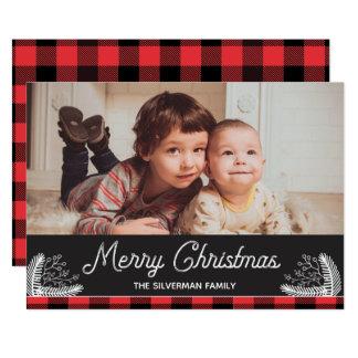 Carte de Joyeux Noël de contrôle de Buffalo de