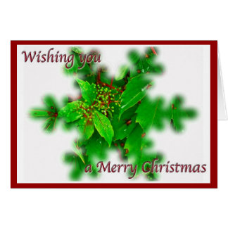 Carte de Joyeux Noël de feuillage