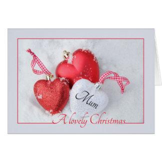 Carte de Joyeux Noël de maman