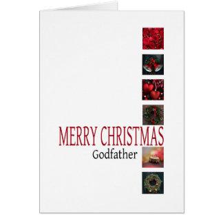Carte de Joyeux Noël de parrain