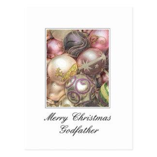 Carte de Joyeux Noël de parrain Carte Postale