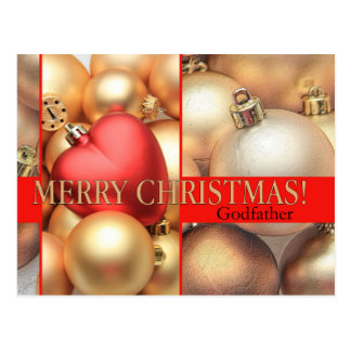 Carte de Joyeux Noël de parrain Cartes Postales