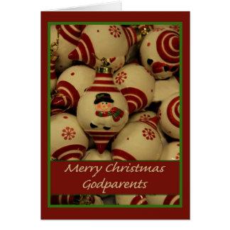 Carte de Joyeux Noël de parrains