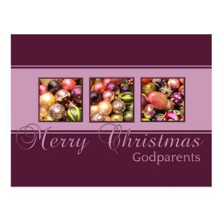 carte de Joyeux Noël de parrains Carte Postale