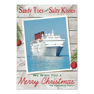 Carte de Joyeux Noël de signe de plage
