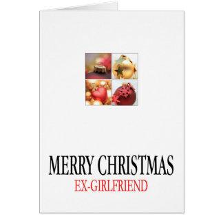 carte de Joyeux Noël d'ex-amie