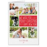 Carte de Joyeux Noël - modèle de collage de photo