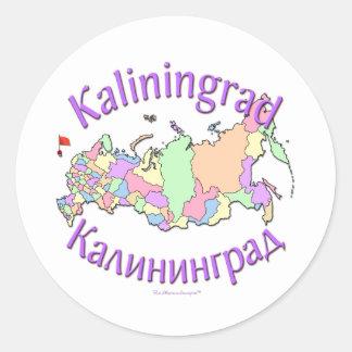 Carte de Kaliningrad Russie Sticker Rond