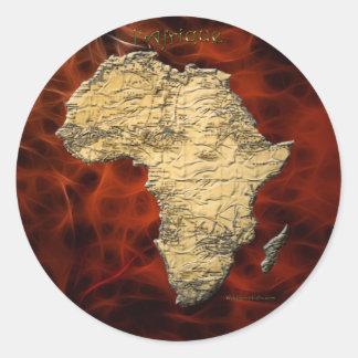 Carte de l Afrique le continent foncé Autocollants Ronds