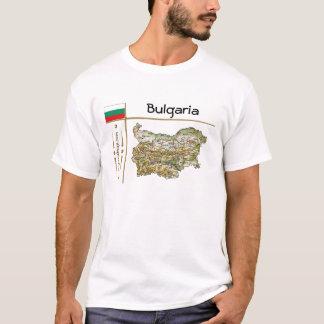 Carte de la Bulgarie + Drapeau + T-shirt de titre