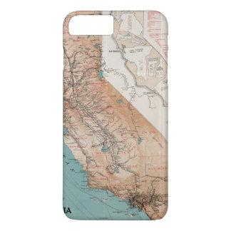 Carte de la Californie 2 Coque iPhone 7 Plus
