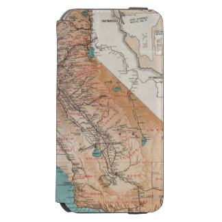 Carte de la Californie 2 Coque-portefeuille iPhone 6 Incipio Watson™