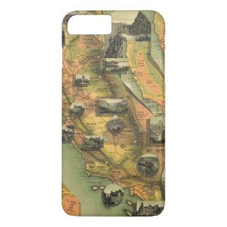Carte de la Californie Coque iPhone 8 Plus/7 Plus