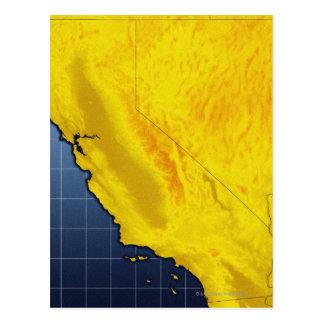 Carte de la Californie et du Nevada Carte Postale