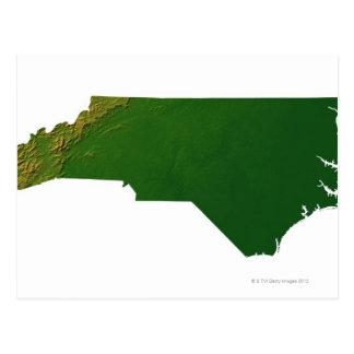 Carte de la Caroline du Nord