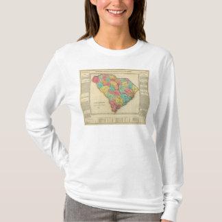 Carte de la Caroline du Sud T-shirt