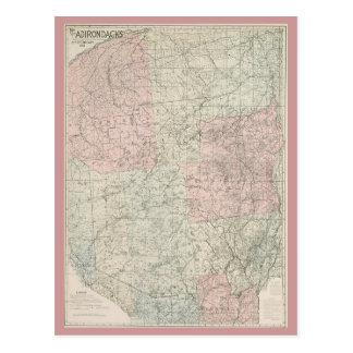 Carte de la carte postale 1912 de l'Adirondacks
